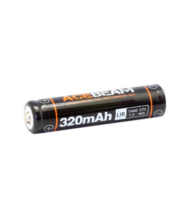 10440 Acebeam Li-Ion lādējamais akumulators 320 mAh