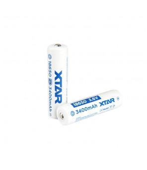 3,6 V akumulators 18650 3400 mAh ar integrētu uzlādes kontrolieri