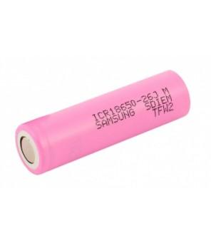 18650 Samsung ICR18650-26JM 2600mAh akumulators