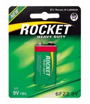 Rocket Heavy Duty 9V baterija, 1 vnt.