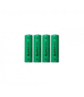 Ledlenser 4 x AA Ni-MH uzlādējamās baterijas lukturītim H14R