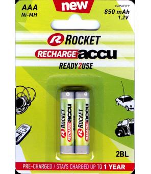 AAA akumuliators Rocket RTU 850mAh , 2 gab.