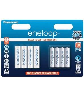 Uzlādējams akumulators 4 x R6 / AA + 4 x R03 / AAA Panasonic Eneloop BK-KJMCCE44E 8BE