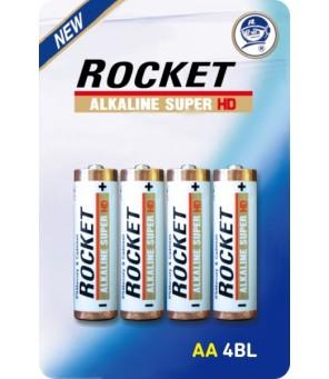 Rocket Alkaline HD AA elementas, 4 vnt.