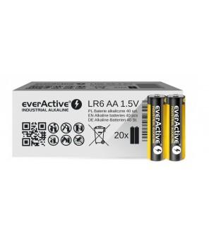 AA baterijas EverActive Industrial Alkaline LR6 40gab.