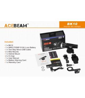 AceBeam BK10 velosipēdu USB lukturis