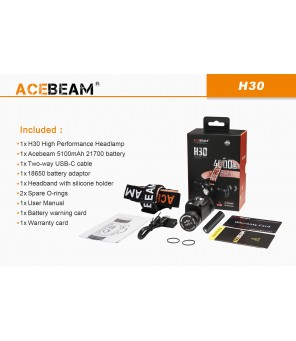Acebeam H30 galvas lukturis