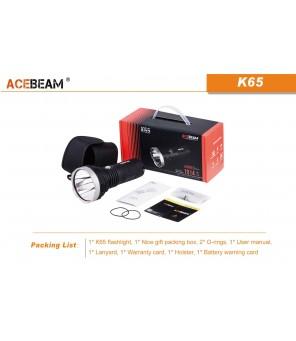 AceBeam K65 6500K auksti balts lukturis