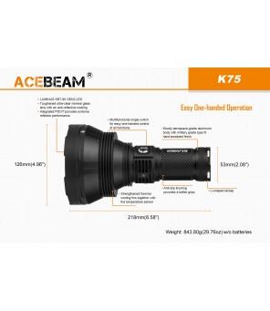 AceBeam K75 lukturis