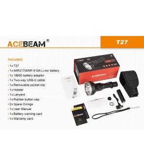 Acebeam T27  balta gaisma (6500K) lukturis
