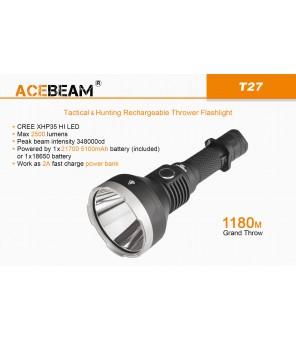 Acebeam T27 neitrāls balts (5000K) lukturis