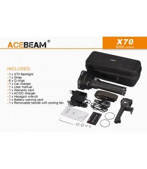 Acebeam X70 spēcīgs prožektors 60000Lm