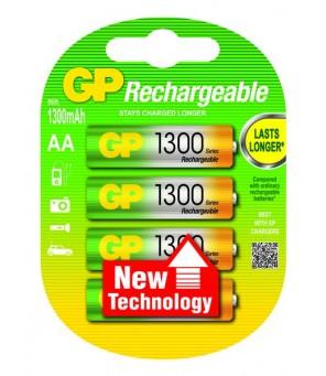 Lādējamās baterijas AA 1300mAh GP, 4gab