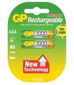 Akumuliatori AAA 1000mAh GP, 2gab