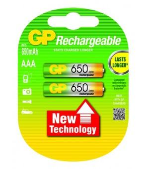 Akumuliatori AAA 650mAh GP, 2gab
