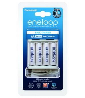 Akumulatora lādētājs Ni-MH Panasonic Eneloop BQ-CC61 + 4gab. R6 / AA Eneloop 2000mAh uzlādējamās baterijas