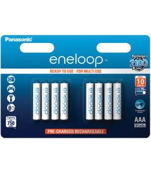 Eneloop R03 AAA 750mAh BK-4MCCE/8BE  8gab. Uzlādējamās baterijas