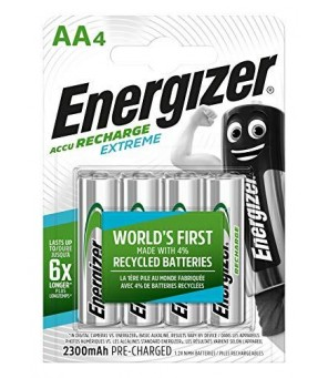 Energizer Extreme 2300 mAh AA HR6 1,2 V uzlādējamās baterijas 4gab