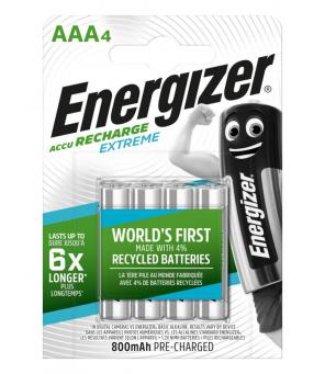 Energizer Extreme 800 mAh AAA HR3 1,2 V uzlādējamās baterijas 4gab