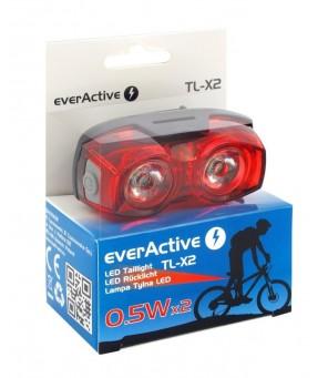 Aizmugurējais velosipēdu lukturis everActive TL-X2