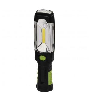 3W COB LED + 6 LED Uzlādējams lukturis