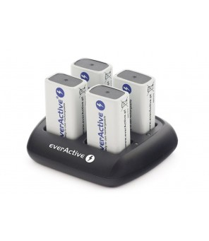 Kroņa lādētājs everActive NC109 automātiski 4 x 9 V