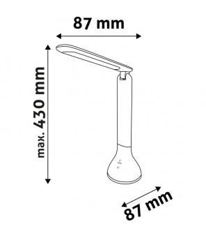 LED uzlādējama galda lampa 4W melna