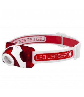 Ledlenser SEO5 LED lukturis, sarkans