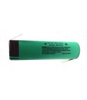 Lodēts akumulators Panasonic 18650 3.7V 3100mAh Li-Ion NCR18650A
