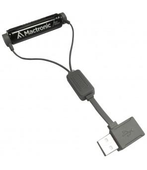 Magnētiskais USB litija jonu akumulatora lādētājs ar funkciju PowerBank Mactronic MAC0012