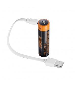 Manker MC12 Ultra-Throw LED lukturītis + USB 18650 akumulators