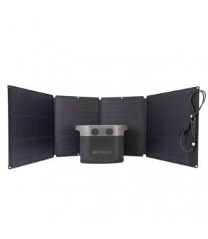 Pārnēsājamās elektriskās EcoFlow Delta 1300 + 2gab x 110W saules baterijas