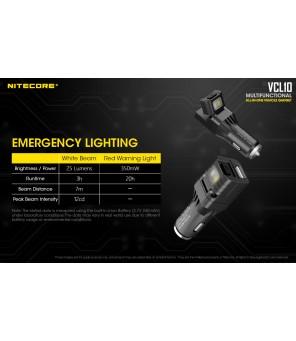 Nitecore VCL10 daugiafunkcinis automobilinis žibintuvėlis