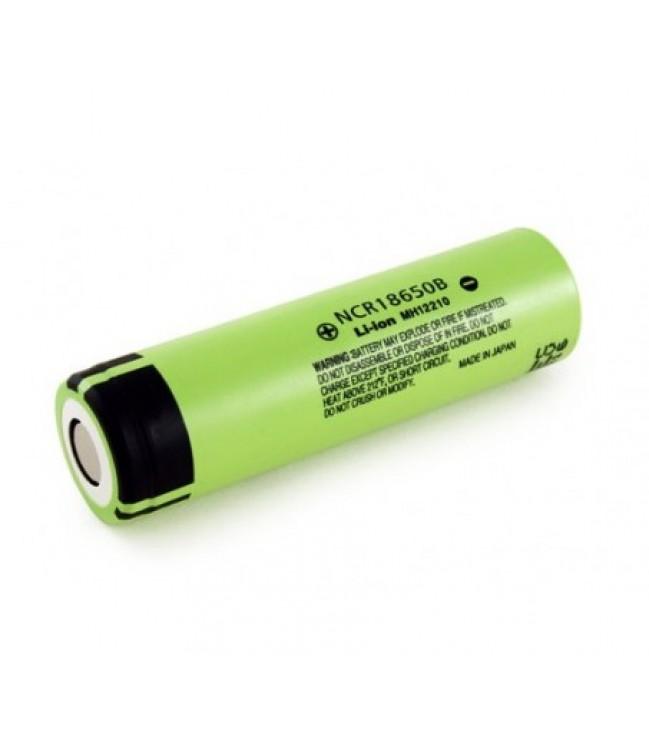 Panasonic 3400mAh 3.7V 18650 NCR18650B akumulators