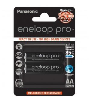 Panasonic Eneloop Pro HR6 2500 mAh AA įkraunamos baterijos, 2vnt