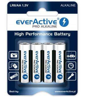 Šarminės AA baterijos everActive Pro Alkaline LR6   4 vnt