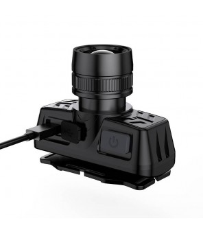 Supfire HL50 galvas lukturis, USB, 300lm, 200m, Zoom