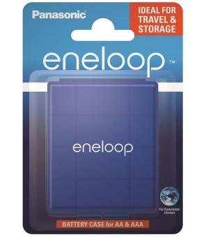 Universali baterijų dėžutė  R6, AA, R03, AAA Panasonic Eneloop, mėlyna