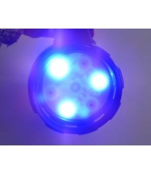 Pakraunamas ultravioletinis UV prožektorius 9W + balta šviesa