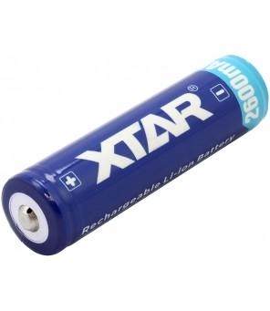 Akumulators 18650 3,7 V 2600 mAh Li-Ion ar integrētu uzlādes kontrolieri PCB