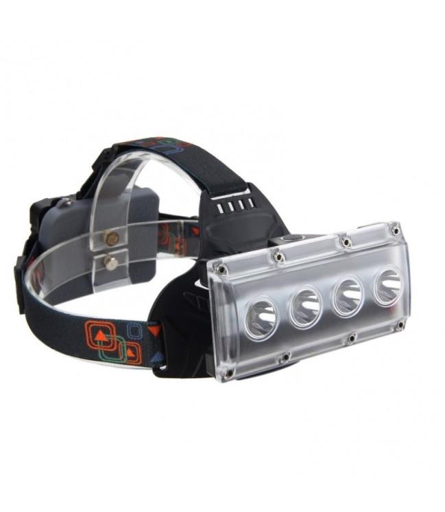 Galvas lukturis 4X LED T6